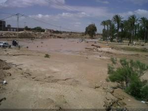 Inondations dans l'oasis de Chenini Gabès